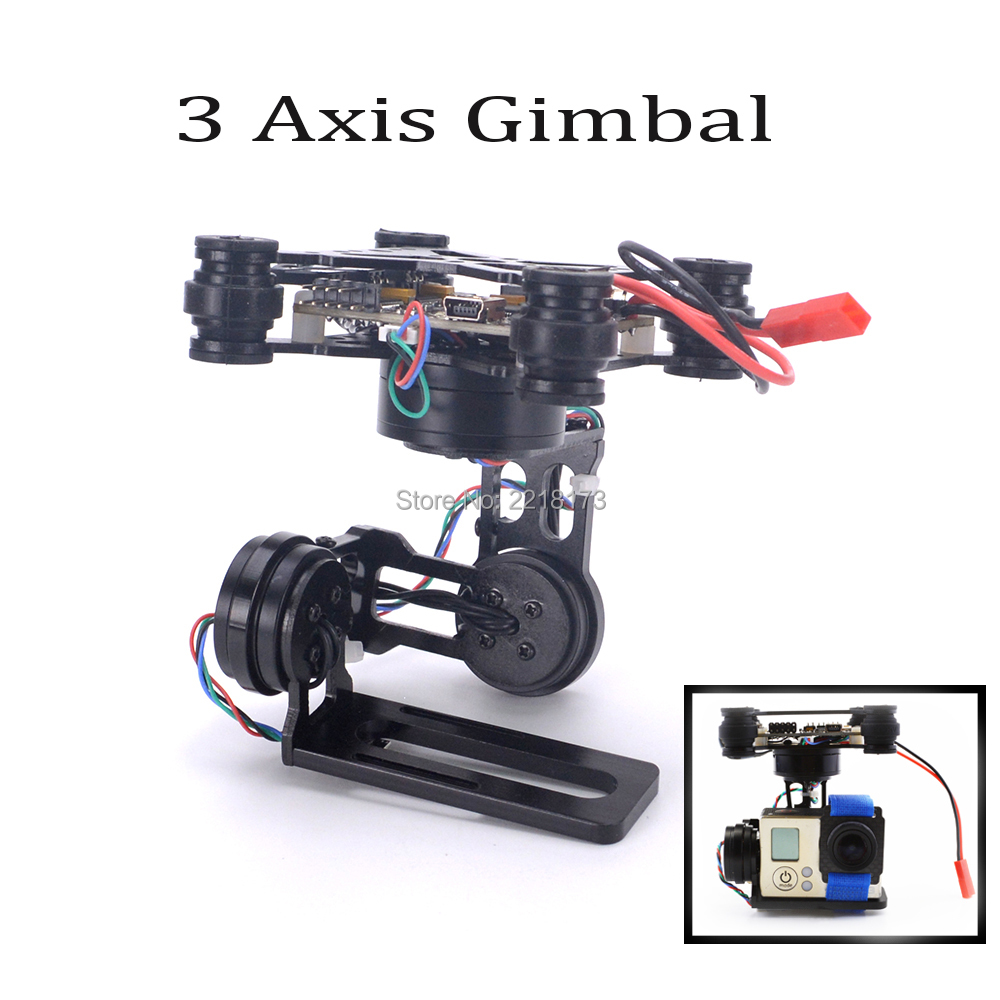 3 Axis Brushless Gimbal Frame W/ 2204 260KV & 2805 140KV Storm32 Controller for Gopro Hero 5 6 gopro hero session FPV RTF aluminum alloy gopro frame for gopro hero 5
