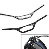25mm Scrambler Handlebar Retro Style Drag Cross Bar Drilled Hole For Harley Sportster XL Iron 883