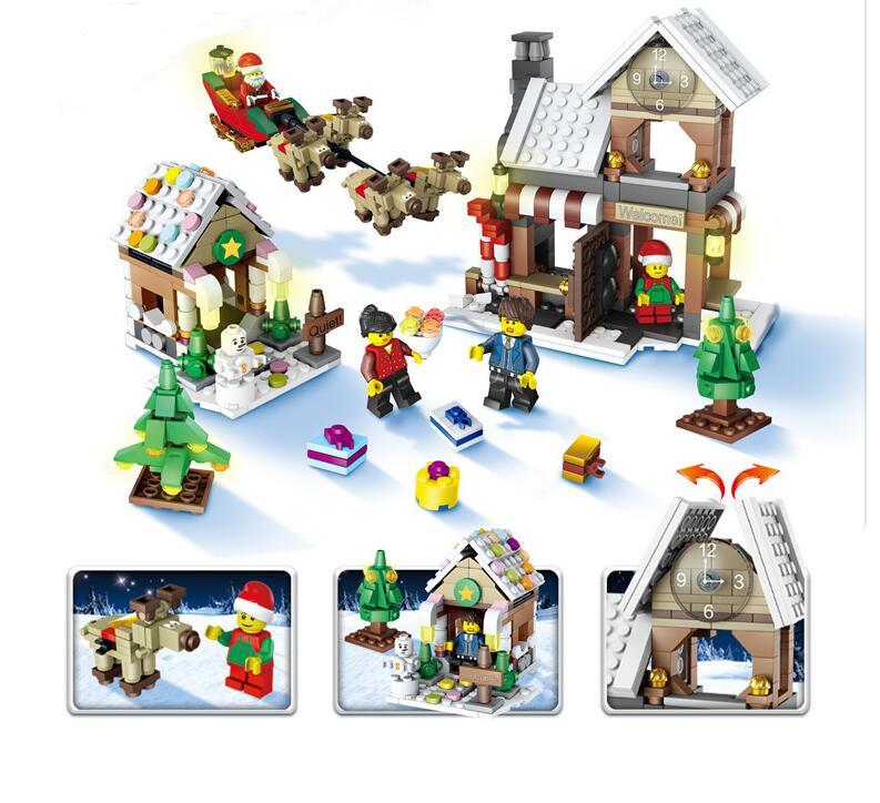 The New JJRC1001 Lepin City Construction Series Building Blocks DIY Christmas Gift For Kid Legoe City Winter Christmas Hut Toy ynynoo lepin 02043 stucke city series airport terminal modell bausteine set ziegel spielzeug fur kinder geschenk junge spielzeug