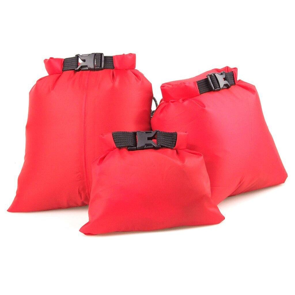 LUCKSTONE 3Pcs Waterproof Storage bag for Rafting Boating 1.5+2.5+3.5L