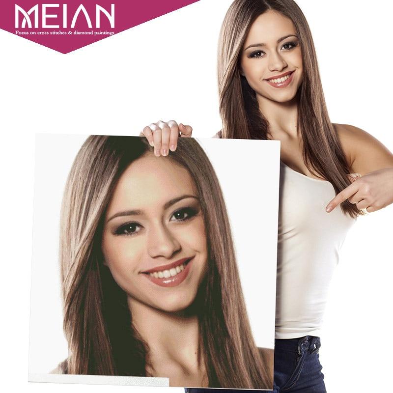 Meian, Foto Personalizzata, Disegni e schemi per puntocroce, FAI DA TE, 5D, Personalizzato Privata, di Diamante Del Ricamo, 3D, diamante Mosaico, Daimond Decorazione