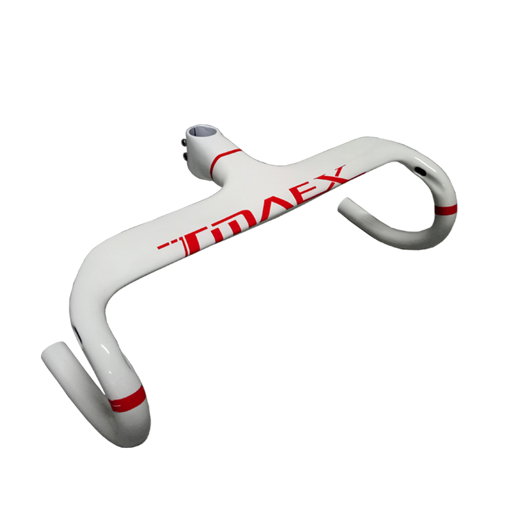 White Carbon Bike Handlebar Carbon Bicycle Handlebar Road Bike Carbon Handlebar Road And Stem Integrated Computer Stent Hole white orange red sports cycling carbone integrated carbon stem handlebar bicycle road bike bar ud 2017 support computer mount