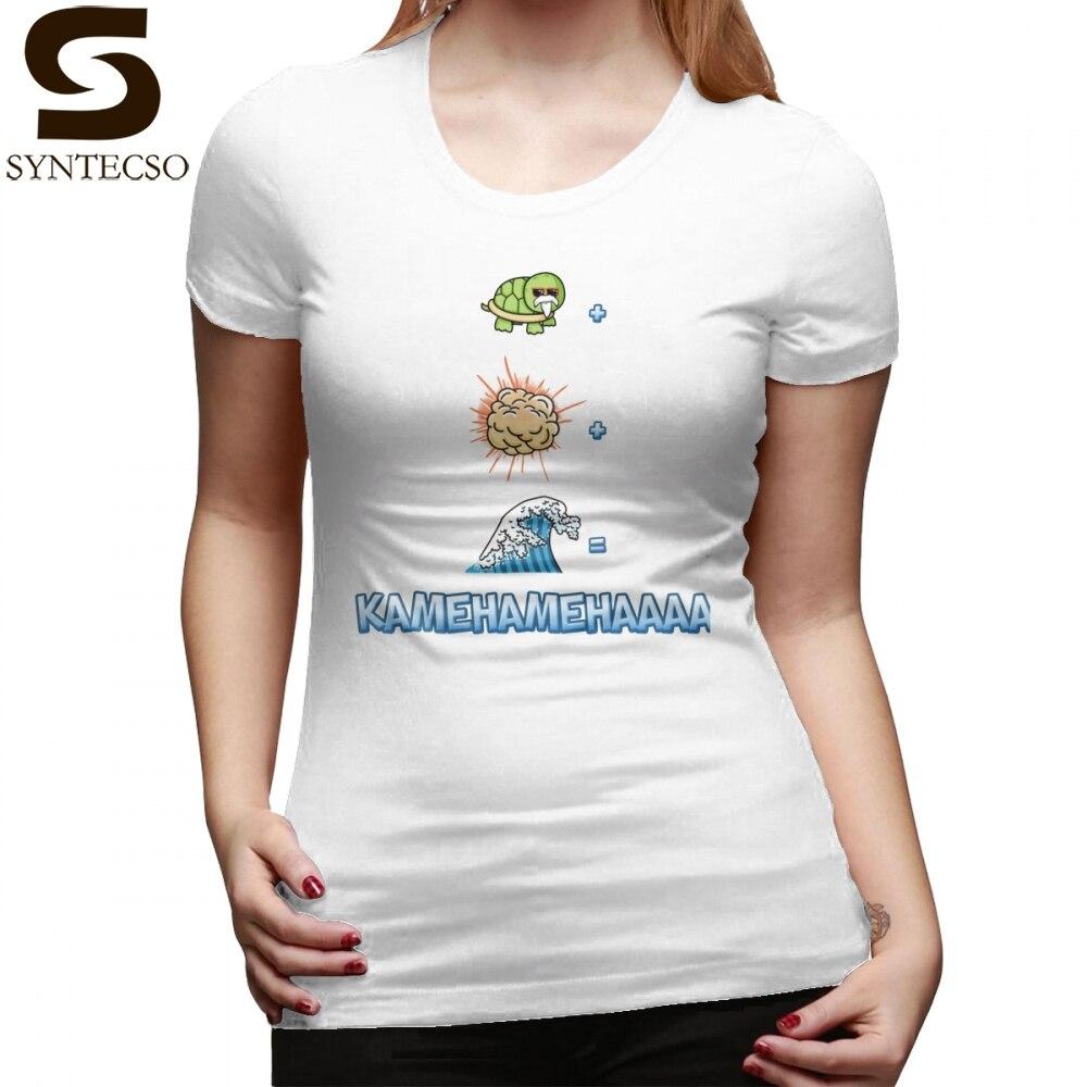 Футболка с изображением черепахи дракона и мяча, футболка с надписью «Kamehameha S Recipe», графическая модная женская футболка, большие размеры, Хл...