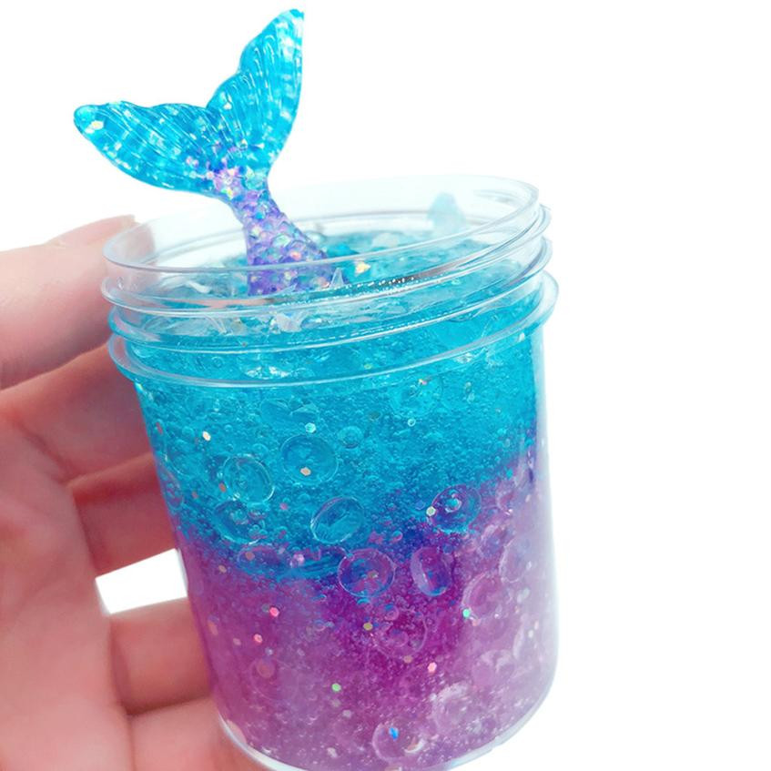 2018 gift squishy 120ml Mermaid Mud Mixing Cloud Slime Putty Scented Stress Kids Clay Toy stranger things kids clay