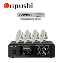 Oupushi Public Address Speakers Home Theater System 80W Bluetooth Amplifie , 10W Ceiling Speaker With USB, SD card , FM Function