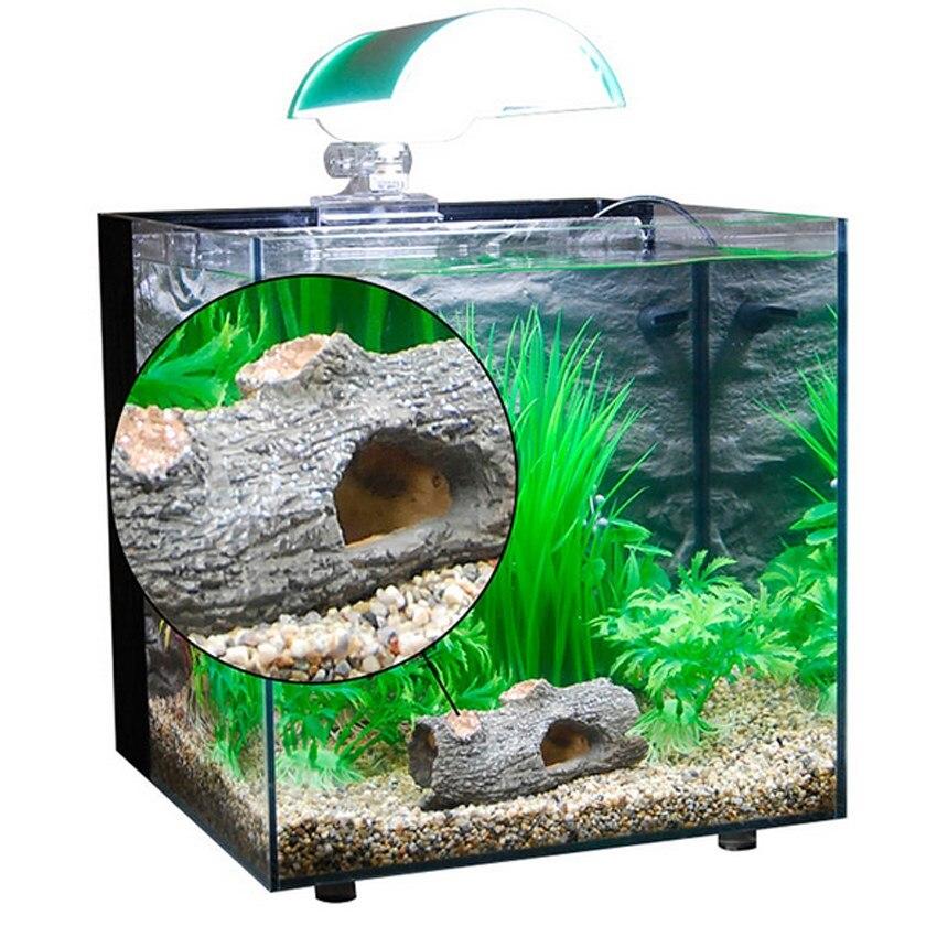 new arrival aquarium ornament hollow hole log tree tunnel cave fish