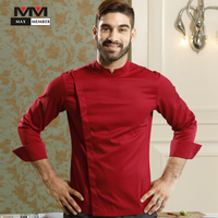 New Top Restaurant Chef Jackets Long Sleeve French High End for Competition Cook Clothing Kitchen Workwear Uniforms