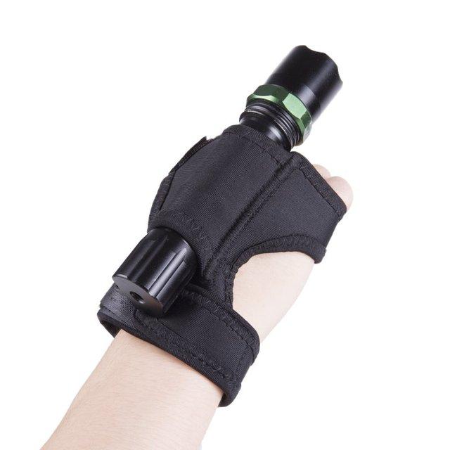 Outdoor Diving LED flashlight arm bracket Dive Torch Flashlight Holder Soft Black Neoprene Hand Arm Mount Wrist Strap Glove