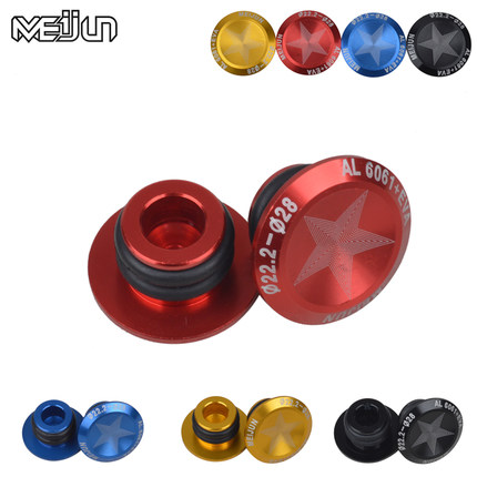 Brushes & Dusters Leaftree 2Pcs Motorcycle Bike CNC Handlebar End Plugs Slider MTB Road Bicycle Cycling Handlebar Grips Handle Bar Cap Stoppers