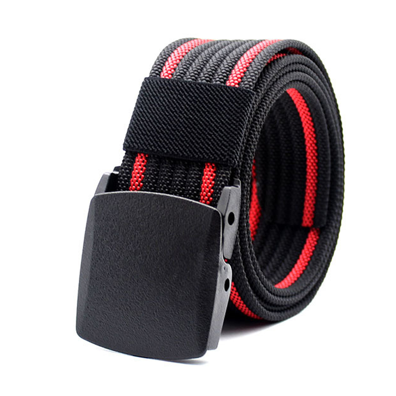 New Men Nylon   Belt   Military Tactical Army SWAT   Belt   Combat Equipment Male Plastic Buckle Casual Jeans Waist   Belt   Prevent Allergy