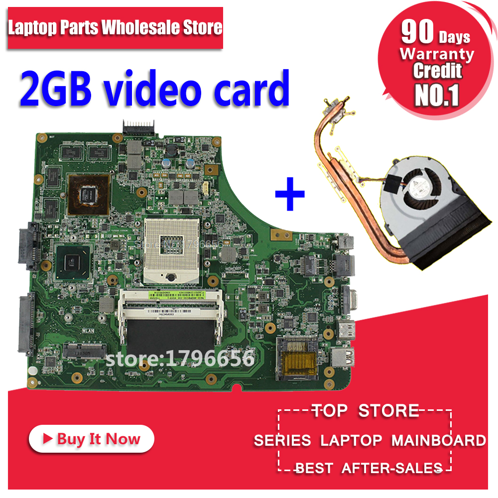 Upgrade send fan K53SV motherboard GT610M 2GB K53SV REV:3.2/3.1 For ASUS A53S K53S X53S P53S K53SJ K53SM K53SV laptop Mainboard k53sv rev 3 1 4 pieces video memory 1gb 2 ddr3 slot for asus k53sv a53s k53s x53s p53s k53sc k53sj k53sm free shipping
