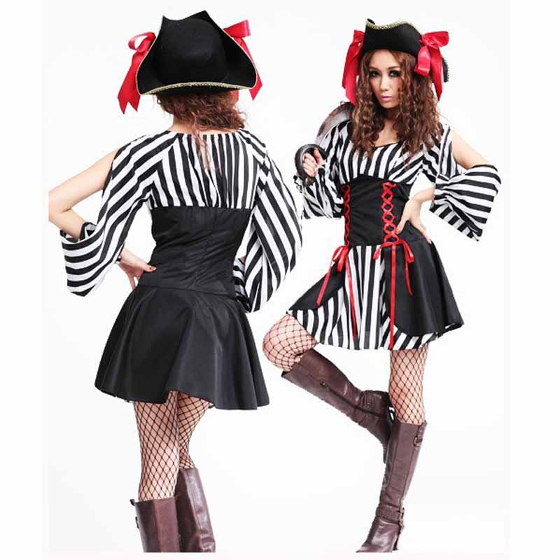 hat and pirate uniforms theme pirate costume for women cosplay clothes carnival halloween costumes lady sexy - Popular Halloween Themes