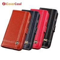 ICoverCase Luxury Genuine Leather Wallet Case For IPhone 5 5s With Card Holder