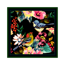 [XiuKe]scarves new fashion women silk scarf printing bandana  small square bird flower twill shawl size:52x52