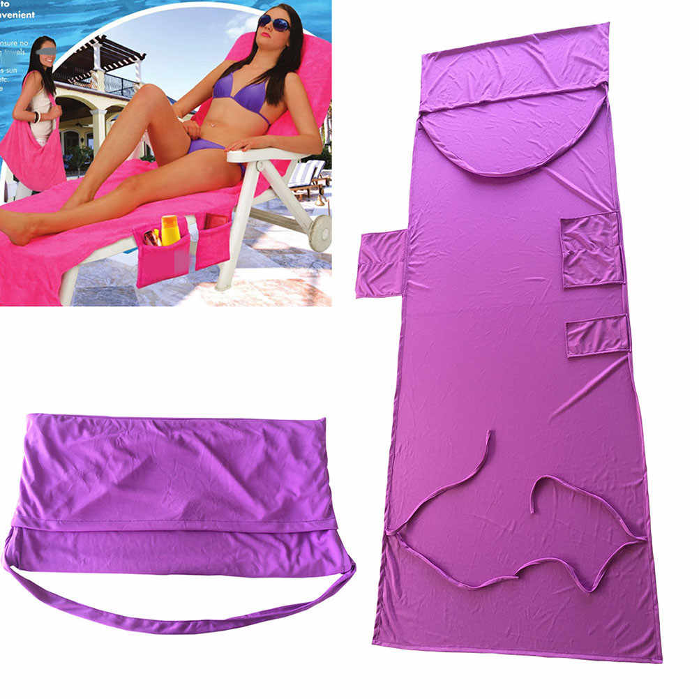 c55ce41b1ec3 Detail Feedback Questions about Beach Chair Cover Chaise Lounge Chair Towel  for Pool Sun Lounger Hotel Vacation with Side Pockets on Aliexpress.com ...