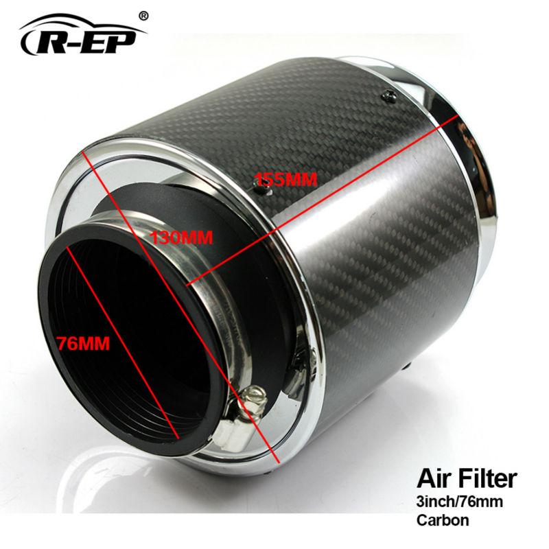 r ep carbon air filter 3inch universal hood air intake carro cars kit filtro de ar esportivo cartridgein air intakes from