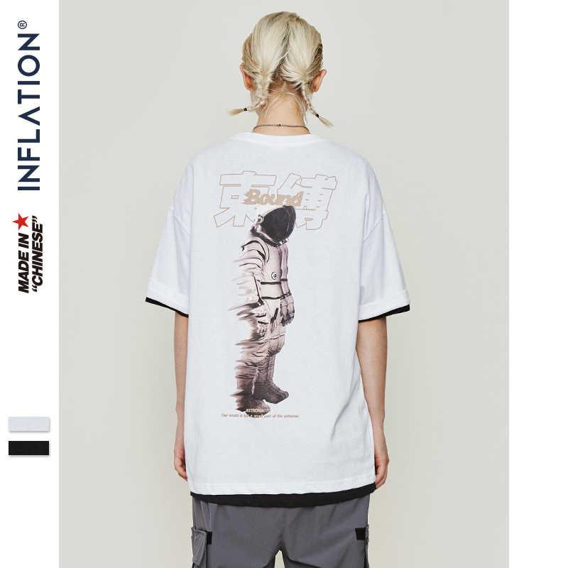 INFLATIE O-hals Hiphop T-shirt Mannen 2019 Zomer Tshirt Paar Tshirt Harajuku Streetwear Tee Shirt Katoen Hiphop Top Tee 9146 S