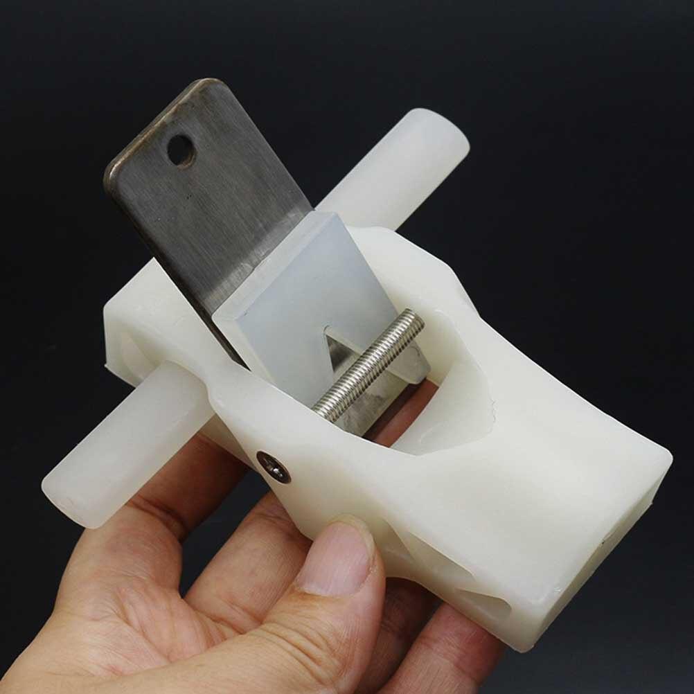 Spokeshave Ajustable con Base Plana Mano Cepilladora Cuchilla de Metal Herramienta de Mano de Trabajo de Madera para Madera Artesanal
