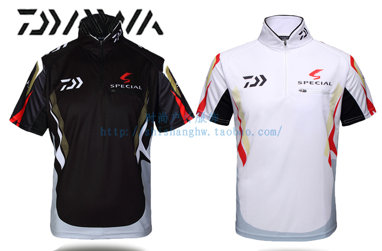 2017 NEW DAIWA Fishing Short sleeve Sunscreen summer DAWA outdoors clothes Ultrathin T shirt Breathable DAIWAS Free shipping-in Fishing Vests from Sports & Entertainment    1