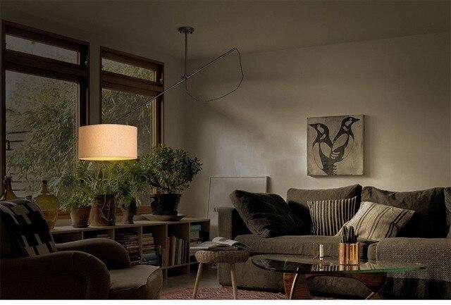 Nordeuropa Moderne Home Eisen Anhänger Leuchtet Einstellbar Langen Arm Esszimmer  Licht Esszimmer Studio Licht Free Verschiffen