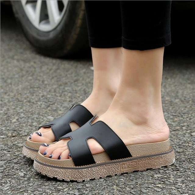 a6cf42ca351e20 Rome Shoes Women Summer Sandals Female Slippers For Women Flip-Flop Sandals  Platform Indoor Flip Flops Slippers Sandals Hot