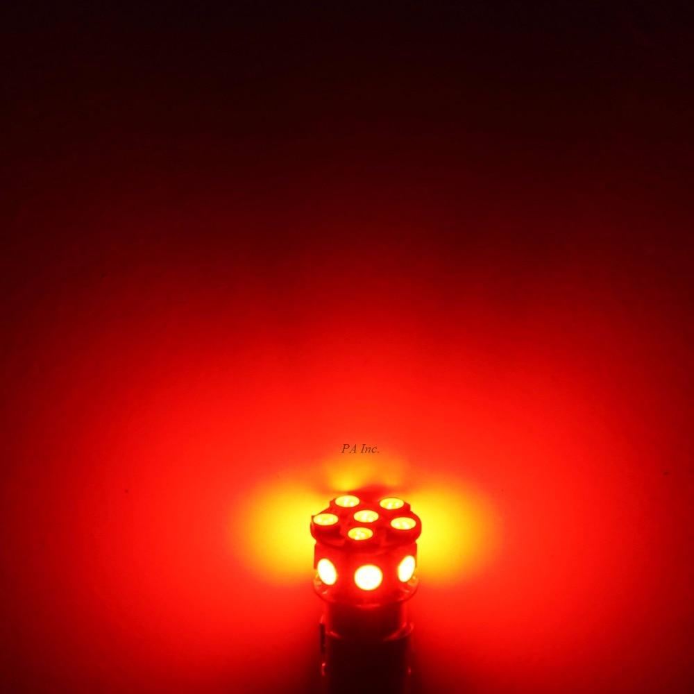 PA LED 10PCS x Car LED Lamp 13SMD T20 7443 5050 LED Car Turn Brake Light Stop Light Lamp Bulb LED 12V RED 1156 ba15s p21w 2 3w 13 led 5050 smd led red light car turn brake tail reversing light