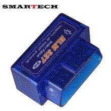 SMART Mini ELM327 Bluetooth OBD2 V1.5 Del Olmo 327 Android Adaptador coche Receptor GPS Auto Herramienta de Escáner OBD 2 OBDII Elm-327 escáner
