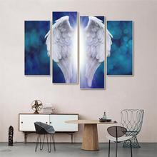 Laeacco Canvas Abstract Painting Calligraphy  Angel Wings Poster and prints Wall Art for Living Room Wedding Modern Home Decor