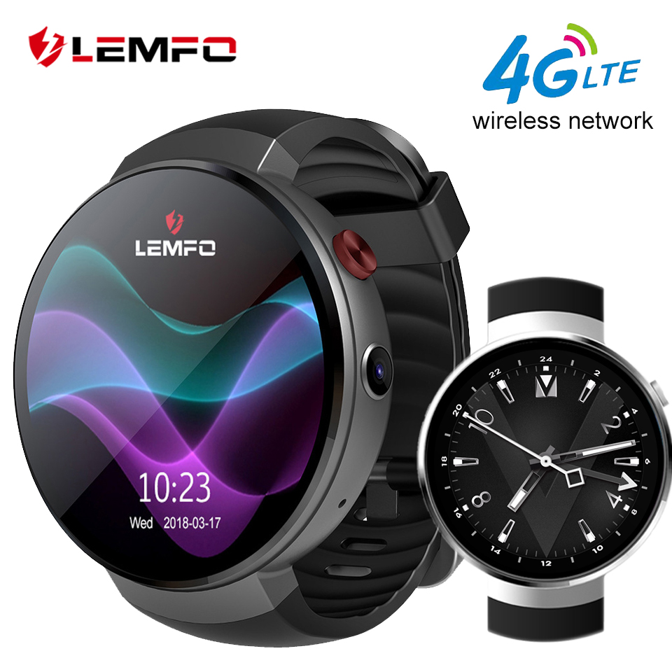 LEMFO LEM7 Smartwatch Android 7.0 LTE 4G Sim 2MP Camera GPS WIFI Heart Rate 1GB + 16GB Memory MTK6737 Smart Watch Men цена
