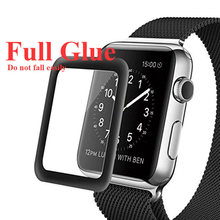 20 PCS Full Glue Waterproof Full Cover Screen Curved Tempered Glass Film Screen Protector for Apple I Watch Series 4 40mm 44mm