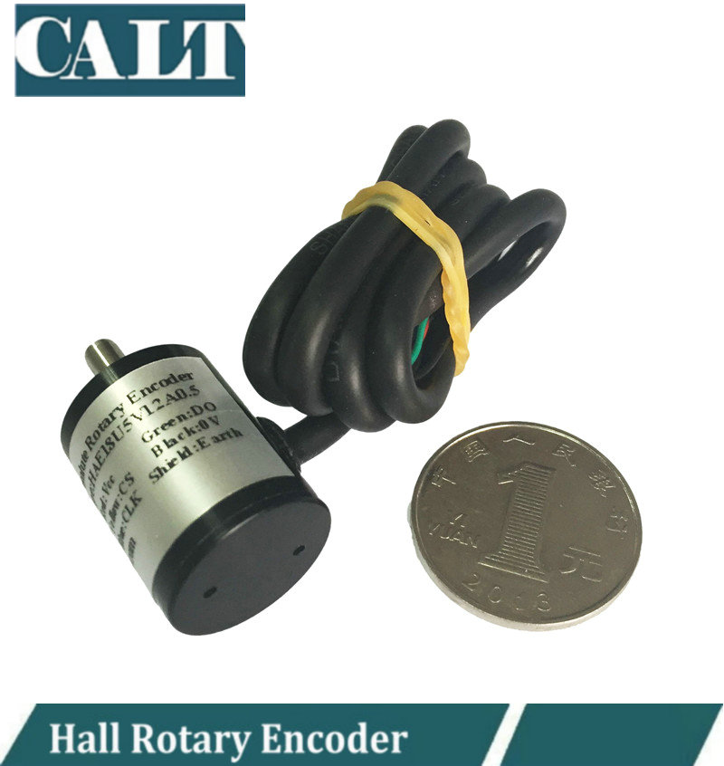 CALT Mini SSI Absolute Rotary Encoder 12 bit Magnetic Angle Encoder 4096 resolution hall sensor