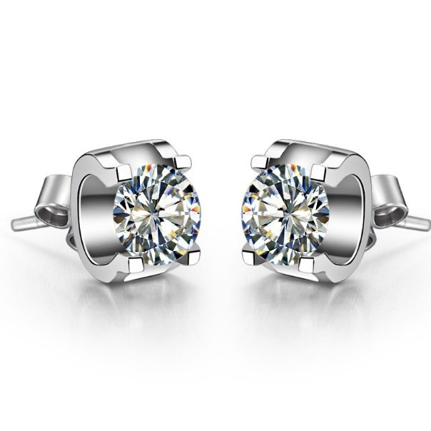 0 5ct Piece Brillante Sona Synthetic Diamonds Women Stud Earrings 925 Sterling Silver White Gold Color Wedding In From Jewelry