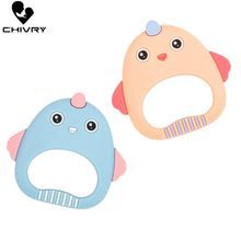 Chivry Cute Baby Teether Food Grade Silicone Cartoon Dog Bird Ice Cream Teething Necklace Toys DIY Newborn Gifts