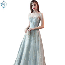 Ameision 2019 Crystal Appliques Beaded Sleeveless Womens Evening Gowns Floor-length New Sexy Long Dresses