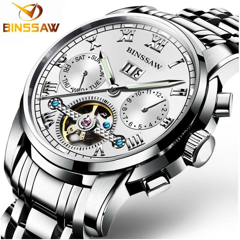 Zegarki męskie Binssaw Casual Business Mechaniczne zegarki na rękę - Męskie zegarki - Zdjęcie 2