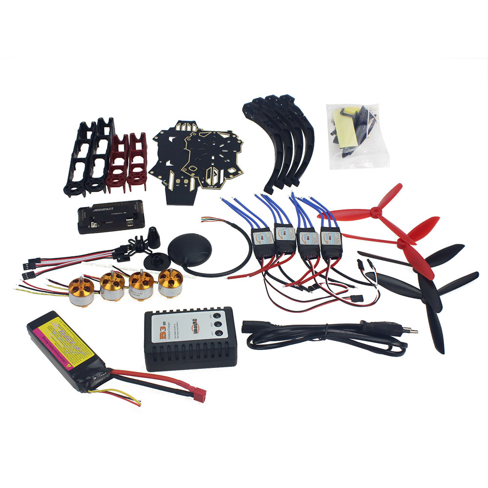 RC Drone Quadrocopter 4-axle Aircraft Kit Q330 Across Frame 6M GPS APM 2.8 Flight Control NoTransmitter F11797-G diy rc drone quadrocopter x4m380l frame kit apm 2 8 flight control gps brushless motor quadcopter f14893 k