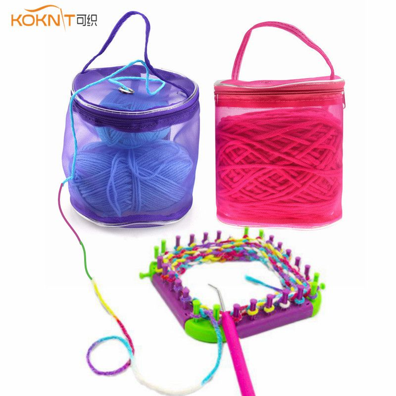 KOKNIT Mesh Bag DIY Hand Weaving Tools Yarn Storage Knitting Bag Organizer Hollow Yarn Bag Crochet Thread  Storage Mesh Holder