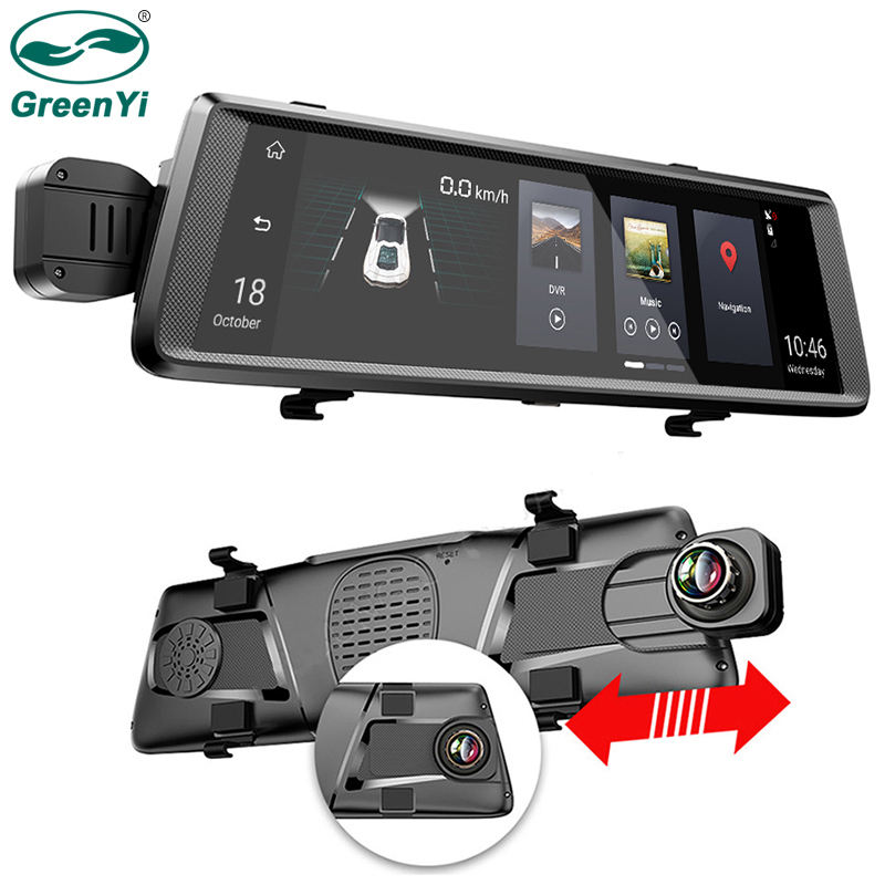 Greenyi Dvr-Mirror-Monitor Android Rear-Camera WIFI Bluetooth ADAS Full-Touch-Screen