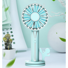 Mini Portable Fan USB Rechargeable Desk with Mirror & Holder 5V 3 Speed Small Desktop Cooler Table Laptop Power