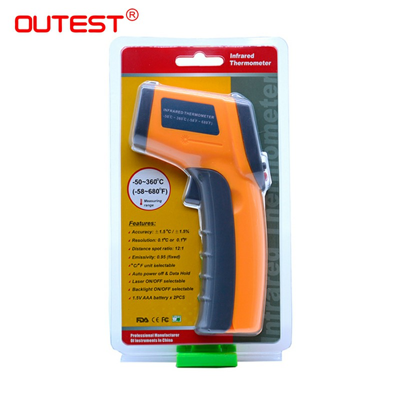 Non contact Digital Laser infrared thermometer GS320 50 360C 58 680F Themperature Pyrometer IR Laser Point