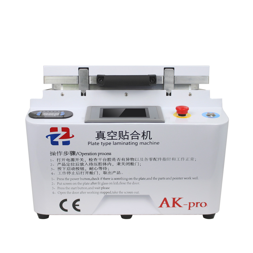 HZ AK-pro 2 In 1 Automatic Vacuum Laminating Machine Bubble Remover Machine Built-in Pump For Phone Samsung Repair Renovation