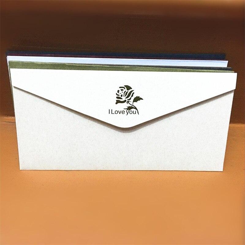 1pc Pure Color Classic Bronzing Envelopes Formal Business