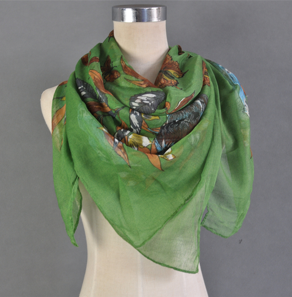 2014 New Special Adult Famle Thin Long Design Chiffon Square Scarf Women's Autumn Winter Bali Stole Shawl - DAQIN SILK SCARF HANGZHOU store