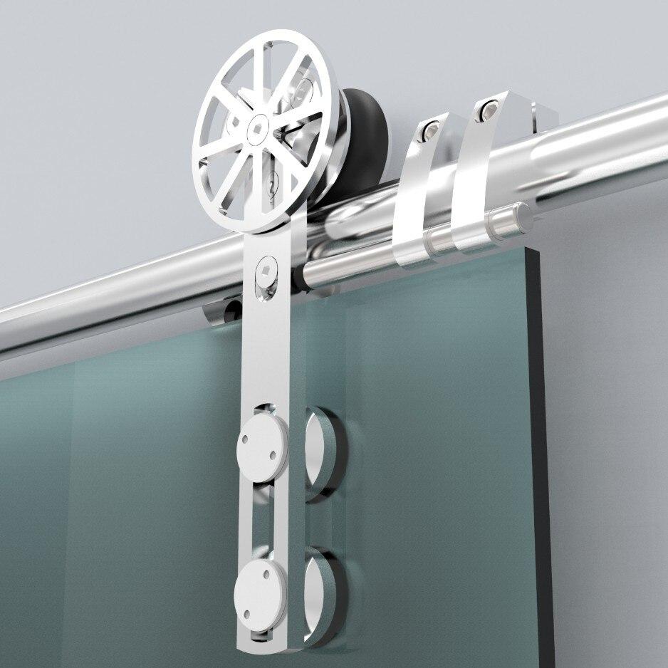 Европейский стиль из нержавеющей стали раздвижные сарай стеклянные двери аппаратных раздвижные сарай трек оборудование с подвижными укра