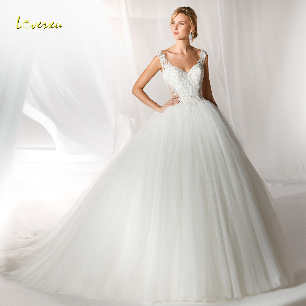 ef368e2158e54 Loverxu Sexy Sweetheart Backless Ball Gown Wedding Dresses 2019 Luxury  Appliques Beaded Button Court Train Vintage Bridal Gowns ~ Best Deal July  2019