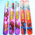 hot sell 10pcs  2017popular MIXED COLORS SPIDERMAN  Magic Ruler Slap Band Bracelets bangle SL160511-3