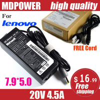 MDPOWER For LENOVO ThinkPad X100e X120e X121e X130e X131e Notebook laptop power supply power AC adapter charger cord 20V 4.5A