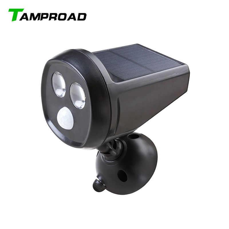 Tamproad светодиодный движения Сенсор свет Беспроводной Spotlight Солнечный свет движения напольный светильник на солнечных батареях всепогодный ночник