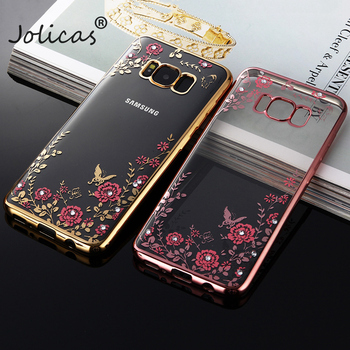 Luxury flower case For Samsung Galaxy S6 S7 S8 S9 Plus Phone Cover for samsung galaxy A3 A5 A7 2017 J1 J3 J5 J7 2016 Prime Case image