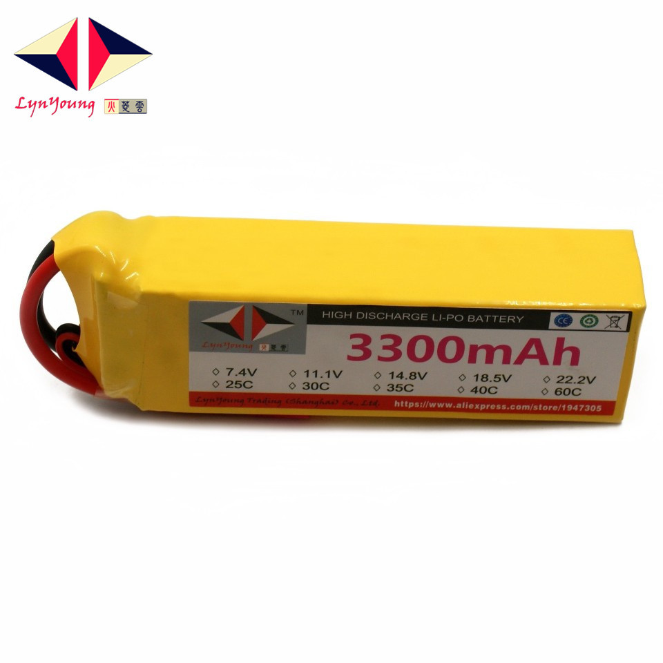LYNYOUNG 5S RC Lipo Battery 18.5v 3300mAh 30C For Airplane Quadcopter Car Boats Drones HelicopterLYNYOUNG 5S RC Lipo Battery 18.5v 3300mAh 30C For Airplane Quadcopter Car Boats Drones Helicopter